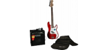FENDER SQUIER AFFINITY PRECISION BASS&RUMBLE 15 AMP - METALLIC RED