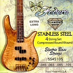 FODERA 4 STRG:45105S-XL S/STEEL 0.45-.105 EXTRA LONG